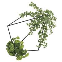 【送料無料】【2020年新商品】壁面緑化プミラ&ポトス (人工観葉植物) 高さ25cm 光触媒機能付 (2000A180)