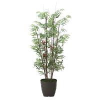 【送料無料】【2020年新商品】黒竹&南天1.6 (人工観葉植物) 高さ160cm 光触媒機能付 (2010A280)