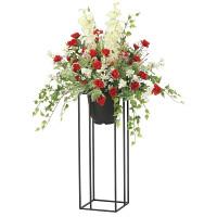 【送料無料】【2020年新商品】ローズリリースタンド1.0 (造花) 高さ100cm 光触媒機能付 (2052A350)
