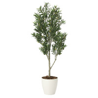 【送料無料】【2020年新商品】オリーブツリー 1.65 (人工観葉植物) 高さ165cm 光触媒機能付 (2096A400)
