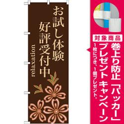 のぼり旗 お試し体験 好評受付中 (GNB-1374) [プレゼント付]