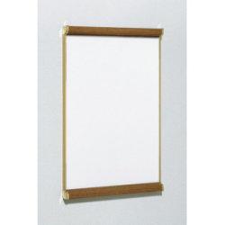 ポスターパネル3523 A1 屋内用 2辺開きタテ カラー:木目/サイドゴールド (3523-WD-A1)