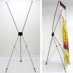 バナーXスタンド ブラック (小) W510~650×H1600 (KW-0022)(1696)