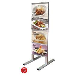 垂直型カードケースメッセージスタンド A4サイズ対応 規格:A4横×8 両面 (CCMS-A4Y8R)
