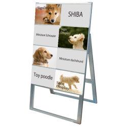 A4サイズ カードケーススタンド看板 規格:A4横×8枚 片面 ハイタイプ (CCSK-A4Y8KH)