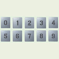 吹付け用プレート 数字 0-9 小 10枚1組 (349-06A)