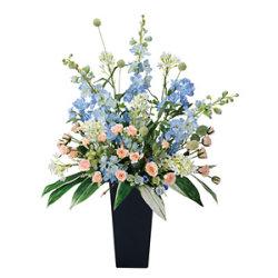 【送料無料】スイートブルー (造花) 高さ88cm 光触媒 (306A300)