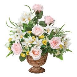 マリアンナリリー (造花) 高さ36cm 光触媒機能付 (326A50)