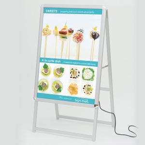 A型看板 LEDグリップA A1サイズ 仕様/カラー:片面/シルバー (39410***)