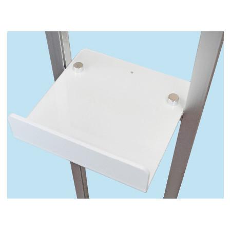 ■チョイ置きできるテーブルは、消毒用ボトルを置くのにピッタリサイズ