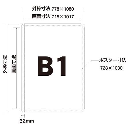 ■寸法図:B1サイズ