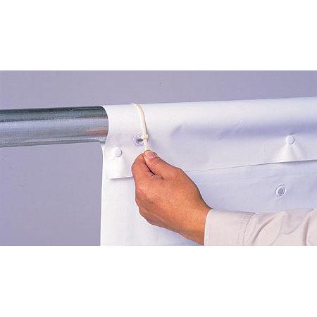 取付け方法2:ナイロンバンドをハトメ穴に通して留めて下さい。