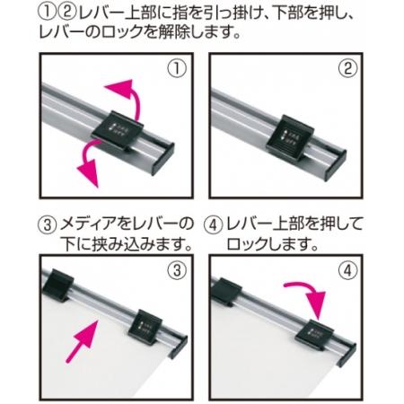 ■印刷メディアの取り付け方法