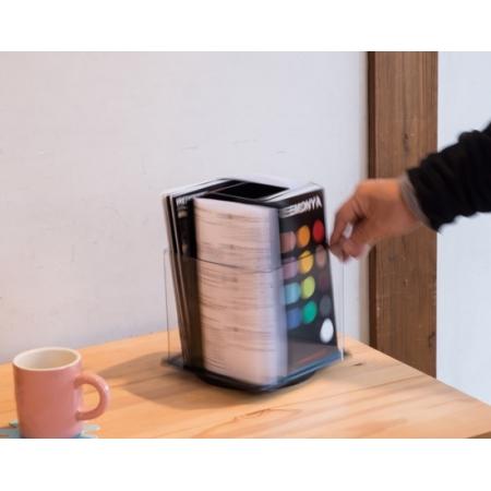 パンフレットオーガナイザーの回転イメージ