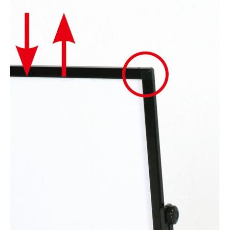 【面板交換方法】面板側面のネジを外し、上部フレームを取り外します。※別途、プラスドライバーが必要です。