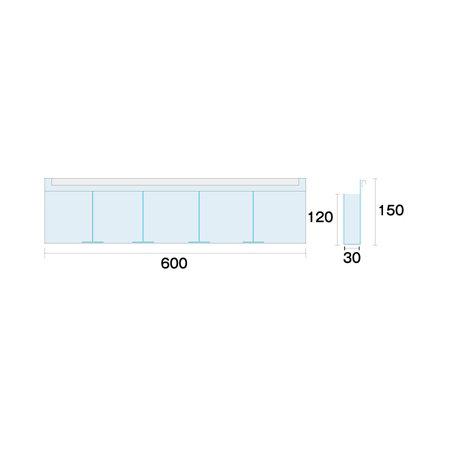 ■パンフレットケース部寸法図