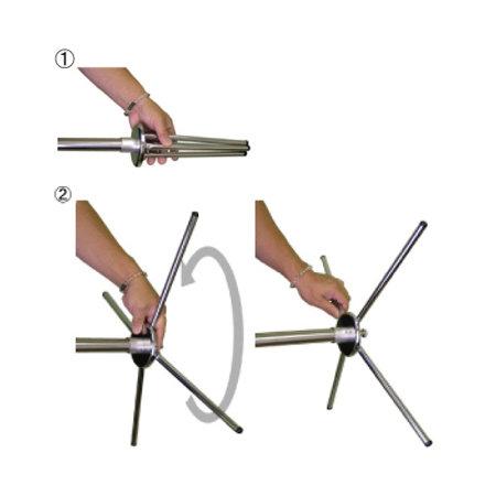 ■脚部が折りたためる配送・収納に便利なX脚