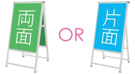 A型看板の片面表示と両面表示の違いって?