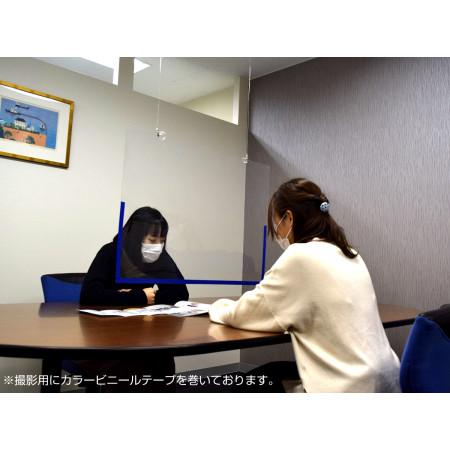 会議室や対面テーブルでの飛沫感染防止に。※写真はA1サイズです。