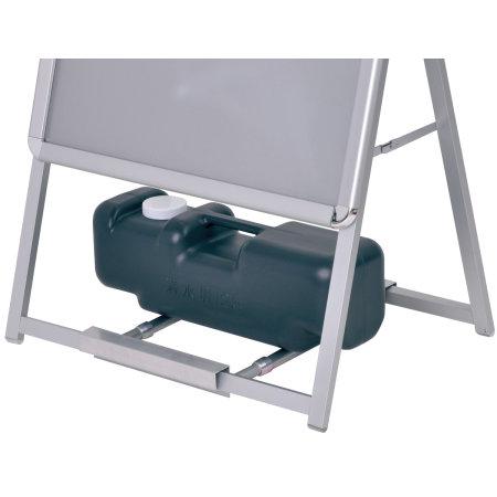※重し置台の使用例。本商品はブラックです。