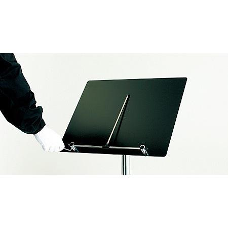 ★メニュー受け部:中心棒はネジを閉めて固定ができ、風などによるメニューのめくれを防ぎます。無段階に調整可能です。