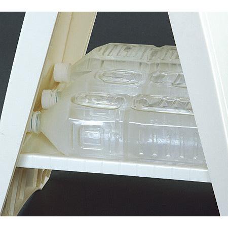 ■ペットボトルをおもりとしてご使用いただけます。※トレイの静荷重は約8kgまで。