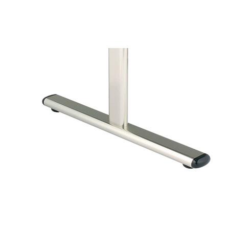 PRC脚部:アジャスターと20×46楕円パイプで本体をしっかり支えます。キャスターへの変更も可能です。
