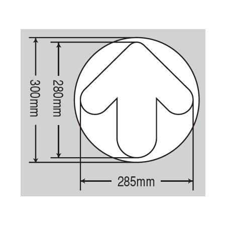 ■寸法図/床面貼付蓄光ステッカー
