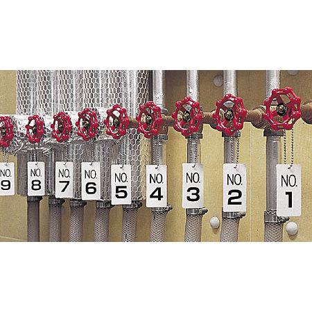 ■使用例(取付具は別売)/数字表示板 配管バルブ表示