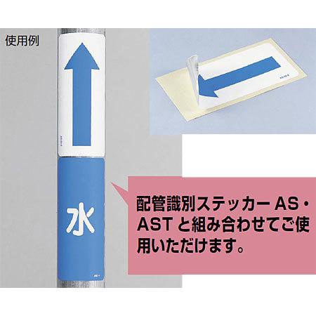 ■組み合わせ使用例/JIS配管識別方向ステッカー 角型