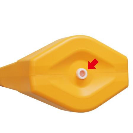 ■排水口は底面に設置されています。スクリューキャップで簡単に開閉できます。※写真はテトラスタンド80