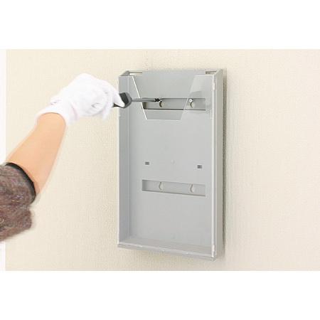 ■取り付け方(共通)/上部2ヶ所の穴をネジで壁に固定します。(CR-430は、先にネジを壁に打ち込んでから、ラックを引っ掛けてください。)
