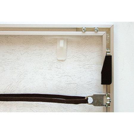 ■アルミフレーム アモット 裏(コーナー部、吊り具、押さえバネ)