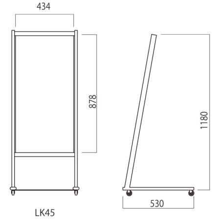 ■ルック450幅 寸法図