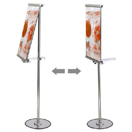 ■アームの回転で傾斜にも垂直にも展示可能。