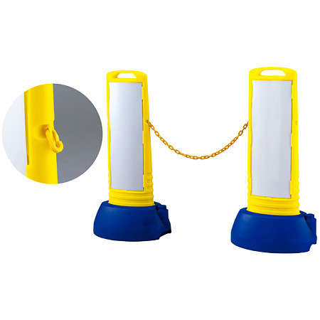 ■別売のジョイントとプラスチックチェーンを使用して、バリケードとして使用できます。