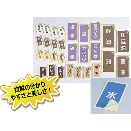 ■商品ラインナップ/JIS配管識別ステッカー