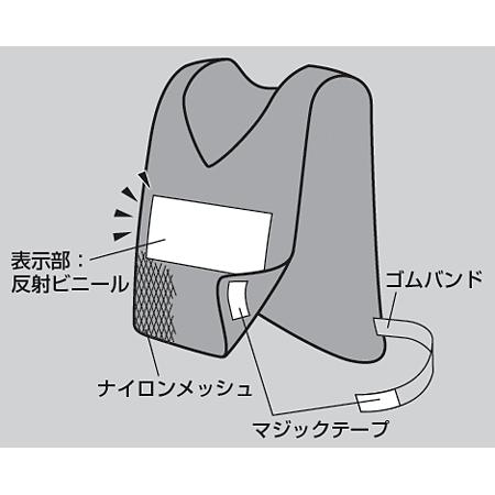 ■構造図/反射ベスト(防犯)