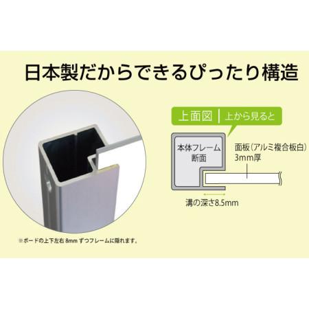 ■日本製だからできるピッタリ構造。工具不要で面板抜き差し可能です。