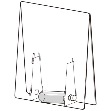 ■ペットボトルを重し代わりに設置することができます。
