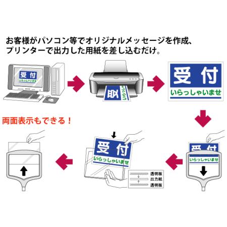 ■フリー表示スタンド 使用方法のご説明