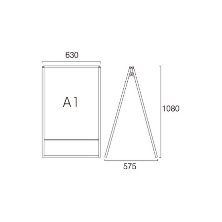 ■A1サイズ・両面の寸法図