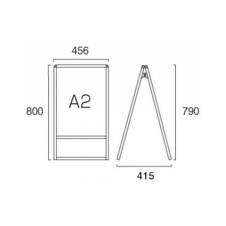 ■A2サイズ・両面の寸法図