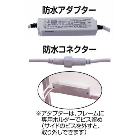 ■IP68防水アダプターと防水コネクタ部の拡大写真
