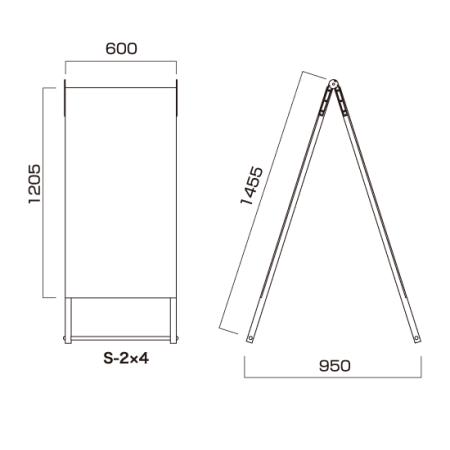■AサインS(セーフティ) S-2×4 図面情報