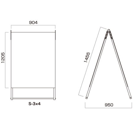 ■AサインS(セーフティ) S-3×4 図面情報