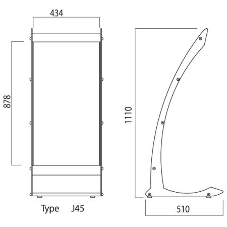 ■タイプJ45シリーズ 図面