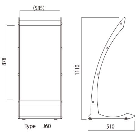 ■タイプJ60シリーズ 図面