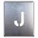 吹付け用アルファベットプレート 350×300 表示内容:J (349-24A)