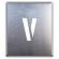 吹付け用アルファベットプレート 350×300 表示内容:V (349-36A)